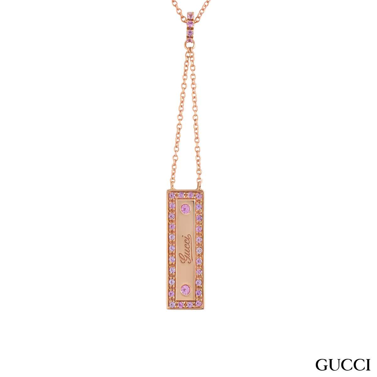 Gucci Rose Gold Pink Spinel Pendant